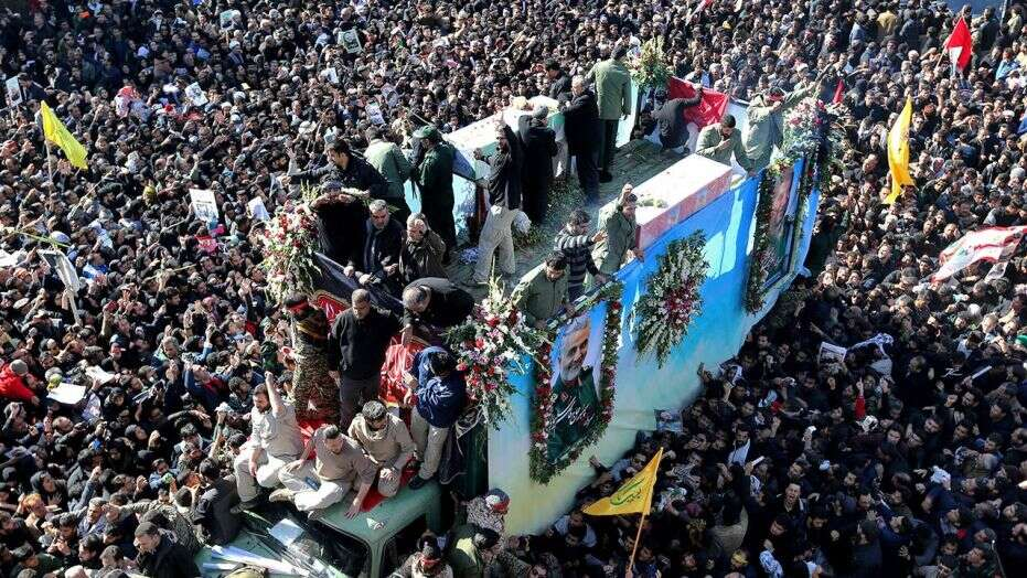 Soleimani funeral stampede in Iran leaves at least 40 dead, state TV reports
