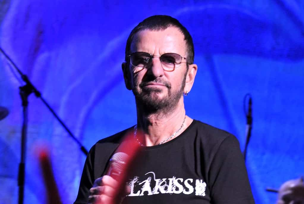 Photo of Beatles' drummer Ringo Starr on his 80th birthday still campaigning for peace and love, particularly for BLM